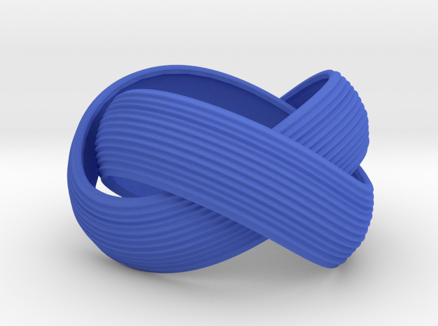 Double Swing Grooved Ring in Blue Strong & Flexible Polished