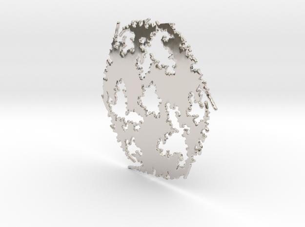 Julia Sharp Web 2 in Rhodium Plated Brass