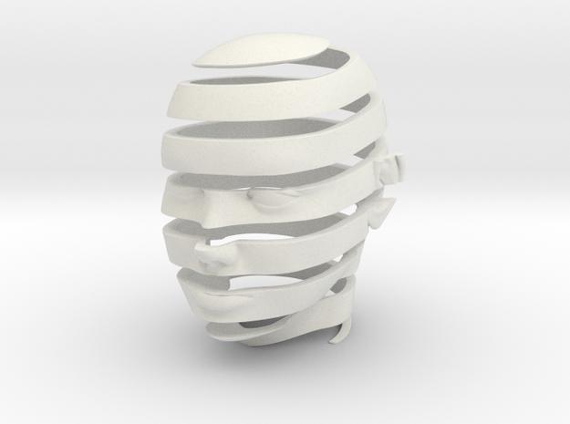 Escheresque Face peeling  in White Natural Versatile Plastic