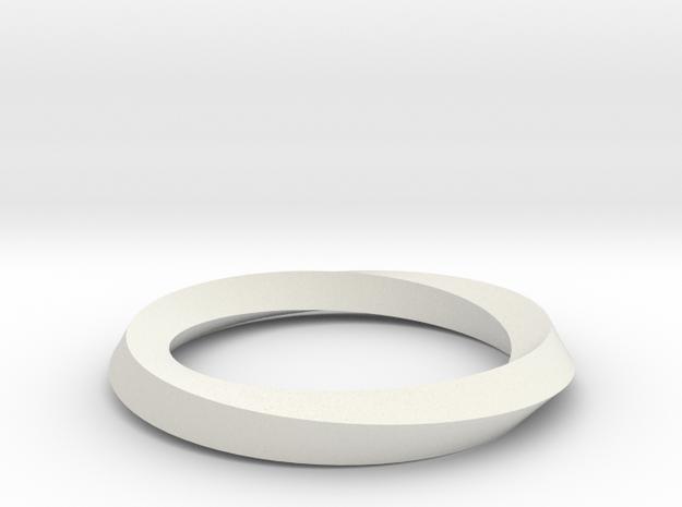 Mobius band in White Natural Versatile Plastic