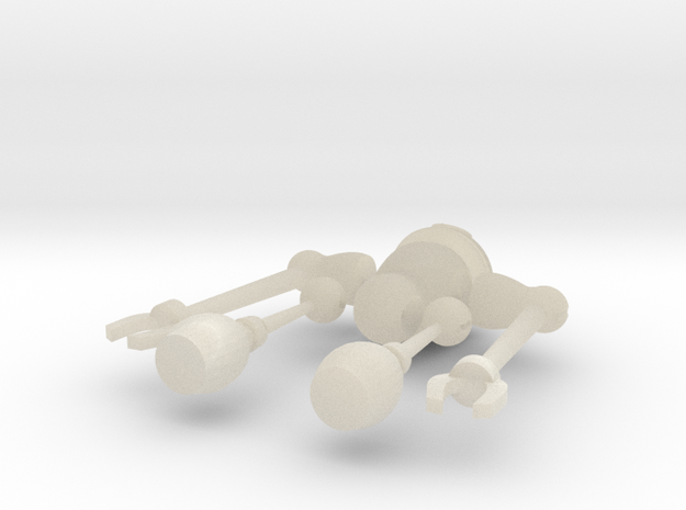 Robot with movable arms 3d printed