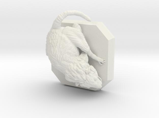 Giant rat miniature in White Natural Versatile Plastic