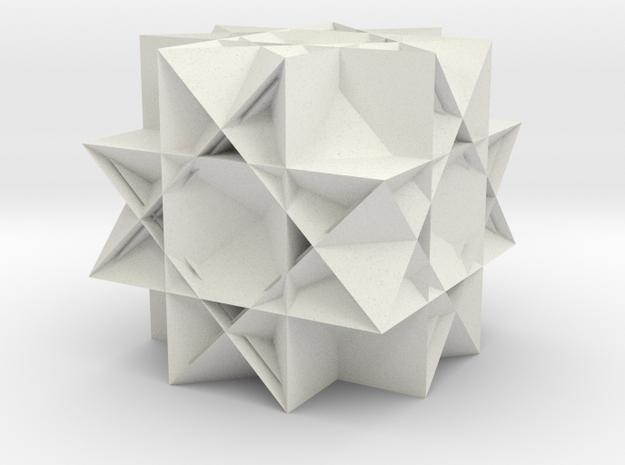 Uniform Gt. Rhombicuboctahedron2 in White Natural Versatile Plastic
