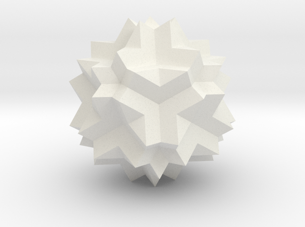 Great Dodecicosidodecahedron in White Natural Versatile Plastic
