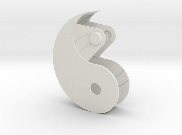 Yin Yang Box Small in White Natural Versatile Plastic