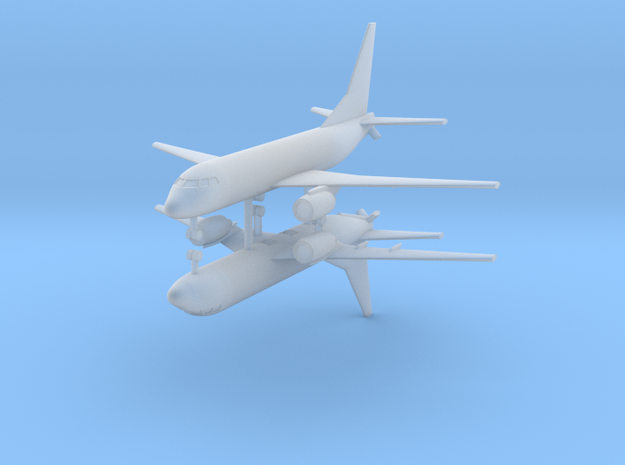 1/700 KC-737 Aerial Refueling Prototype (x2) in Smooth Fine Detail Plastic
