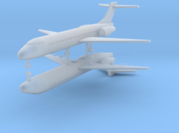 1/700 Boeing 717-200 Commercial Airliner (x2) in Smooth Fine Detail Plastic
