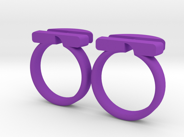 twin-puzzle-ring 3d printed