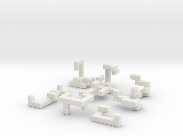 Switch Cube (1.5cm) in White Strong & Flexible