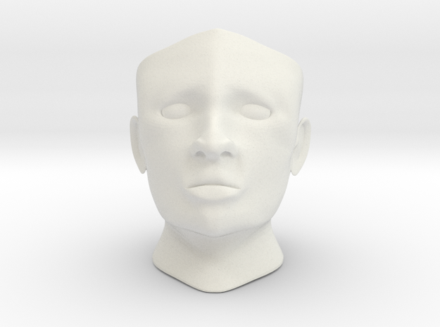 Gyro head c in White Natural Versatile Plastic