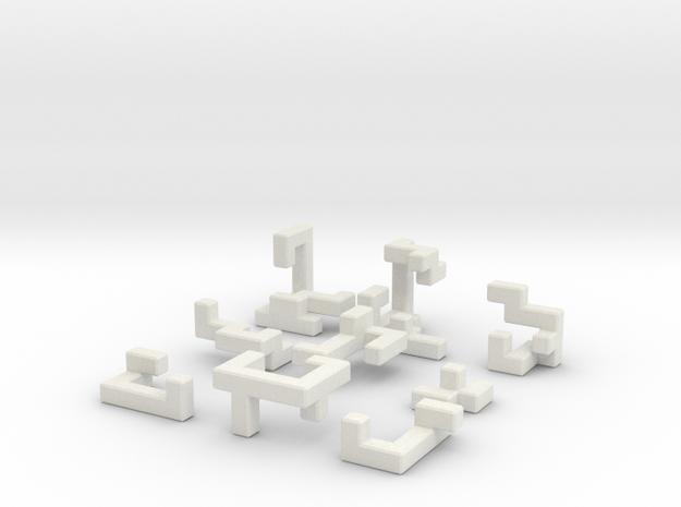 Switch Cube (3 cm) in White Natural Versatile Plastic