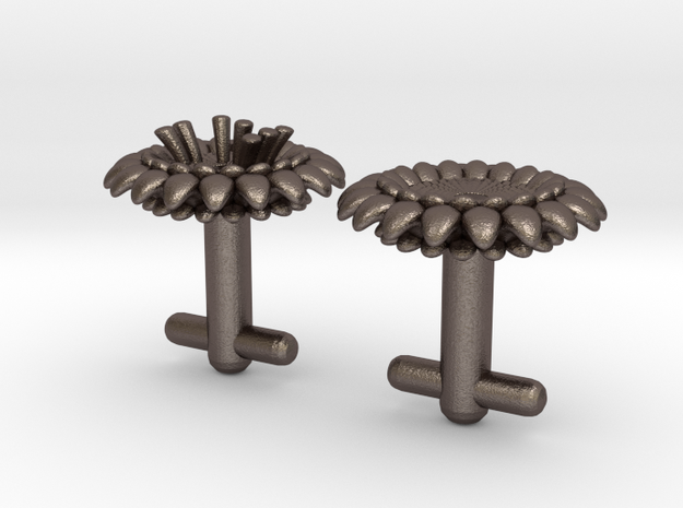 Braille cufflinks flower 3d printed