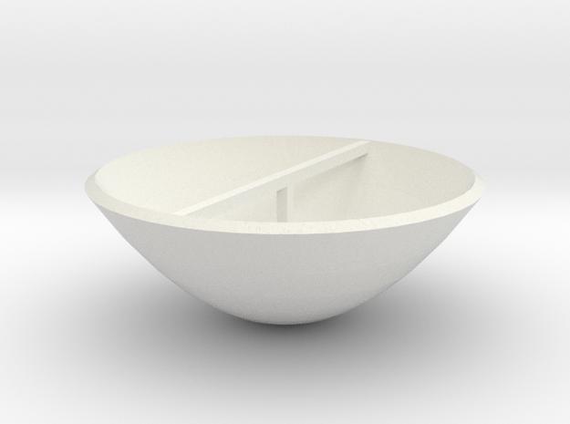 Parabolic Dish in White Natural Versatile Plastic