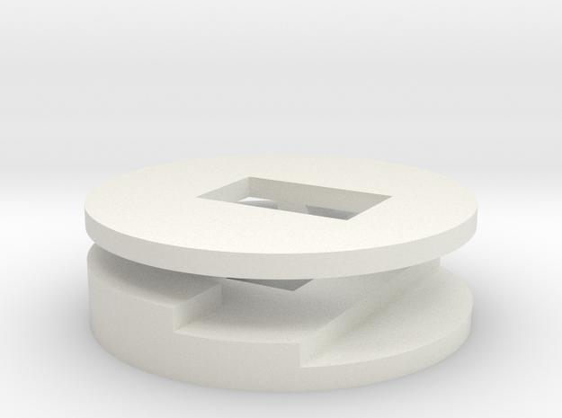 plugbutton in White Natural Versatile Plastic