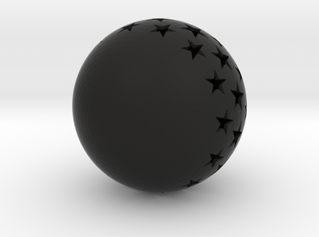 Christmasball with stars 3d printed