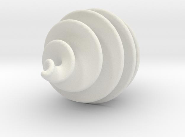 Spiral Ornament in White Natural Versatile Plastic