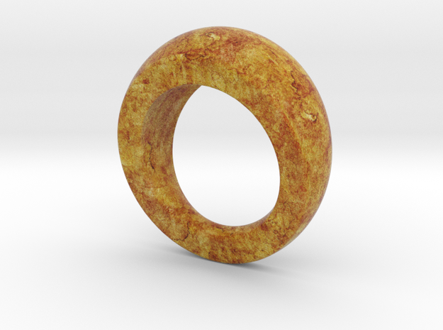 Chunky Round Wood Grain Ring (US size 7)