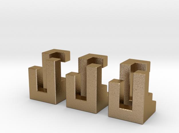 Triaxial in metal 3d printed