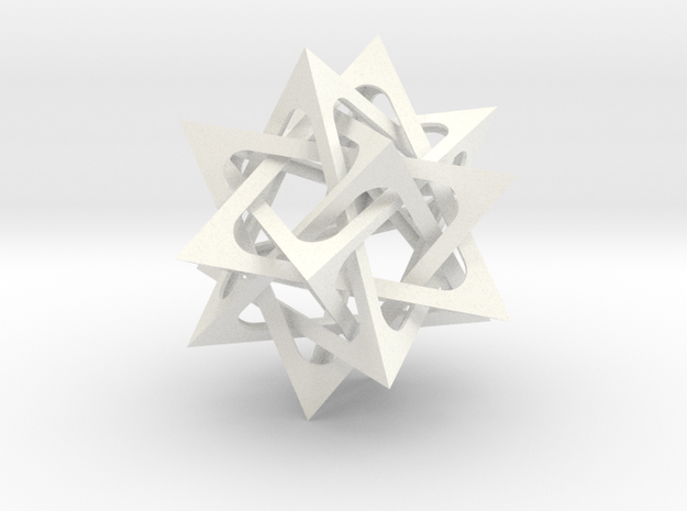 Five Tetrahedra 3d printed