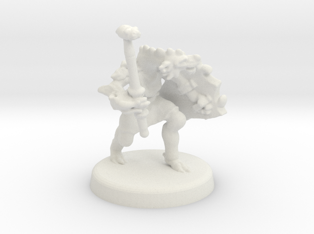 Arjhane (Dragonborn Fighter) in White Natural Versatile Plastic