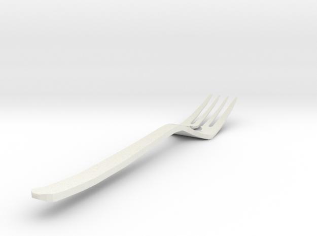 Bird Fork in White Natural Versatile Plastic