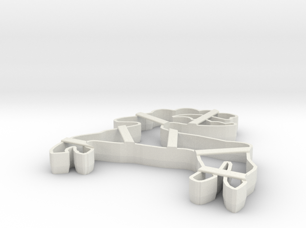 gingerbread cake form cookie cutter in White Natural Versatile Plastic