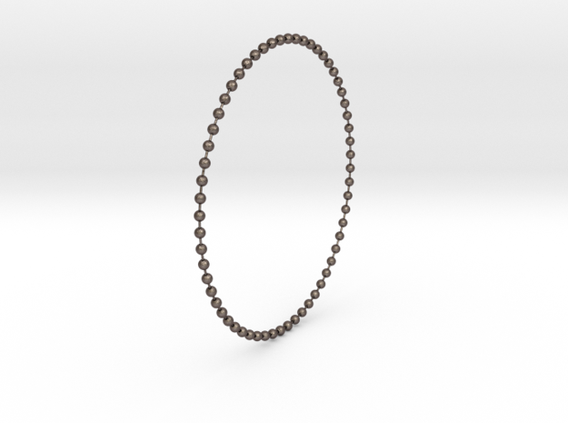 Stainless Perls in Polished Bronzed Silver Steel