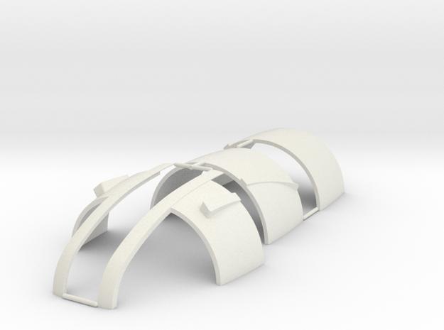 Tre 3 of 6 (Auto Gyro) in White Natural Versatile Plastic