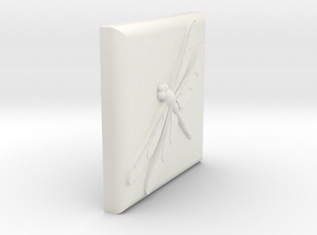 3 inch tile in White Natural Versatile Plastic