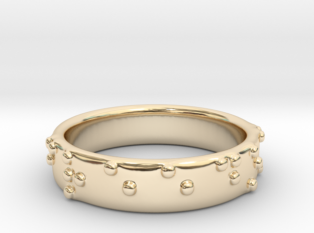 Braille ring 5mm 3d printed
