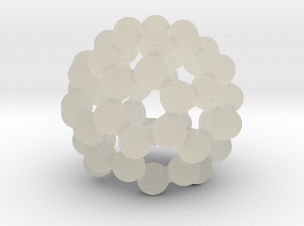 C60 - Buckyball - Smart Candle Small in Transparent Acrylic