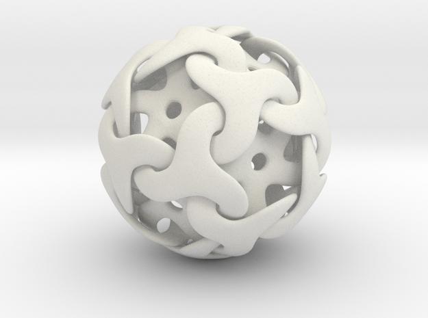Starball Pendant in White Natural Versatile Plastic