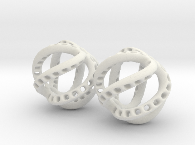 Kraken-Earrings 2 Pieces 3d printed