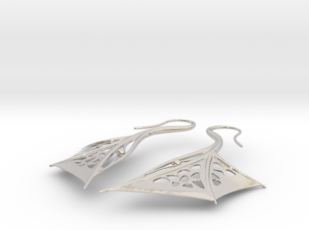 Wing Earrings 3d printed