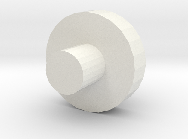 Wheel_test Disc in White Natural Versatile Plastic