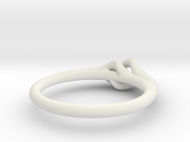 Twist Ring w/ Ball in White Strong & Flexible
