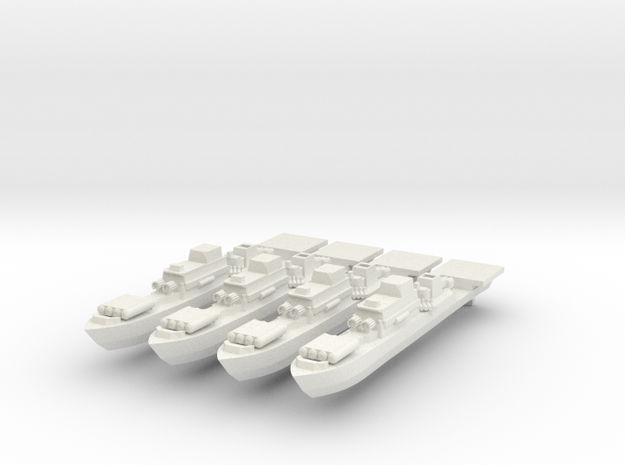 9-Frigate 1:2400 x4 in White Strong & Flexible