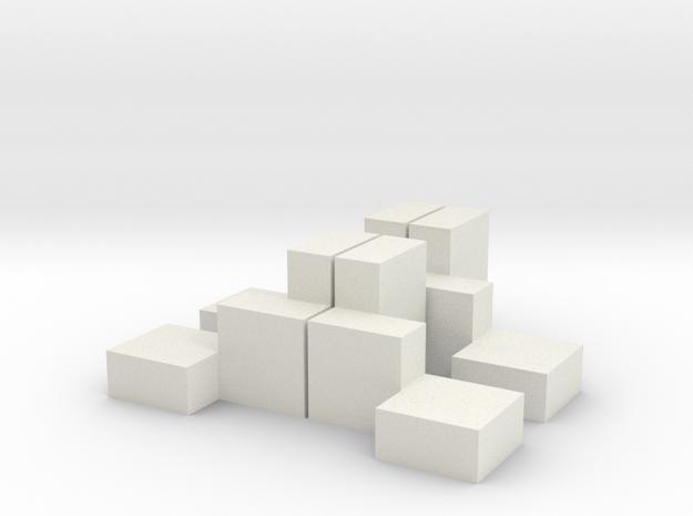 Lucs Quader in White Natural Versatile Plastic