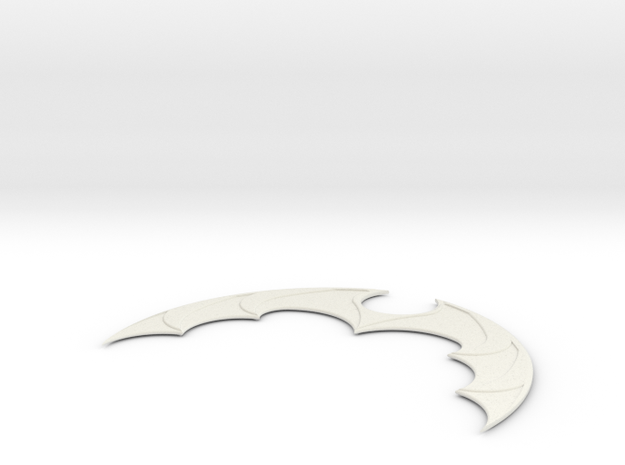 Batarang in White Natural Versatile Plastic