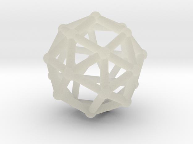 Snub cube in Transparent Acrylic