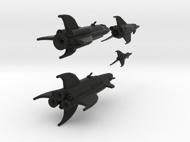 Martian War Rocket Fleet 3d printed