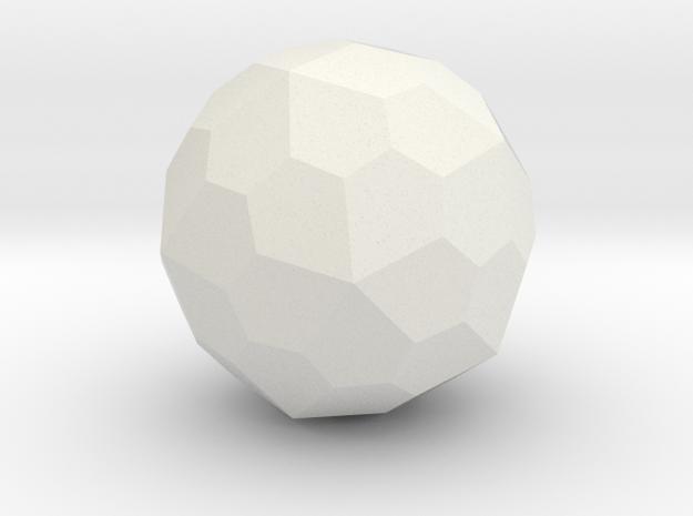 Pentagonal Hexecontahedron in White Natural Versatile Plastic