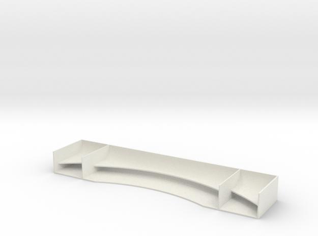 TC Race Wing V1 1.00mm in White Natural Versatile Plastic
