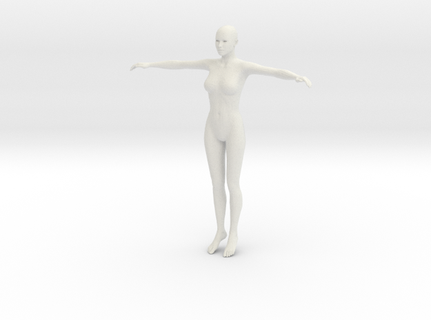 Test girl in White Natural Versatile Plastic