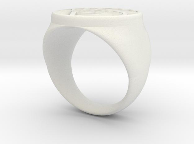 White Lantern Ring (21) 3d printed
