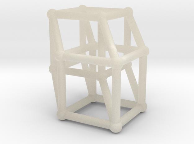 8-cell (Hypercube) 3d printed