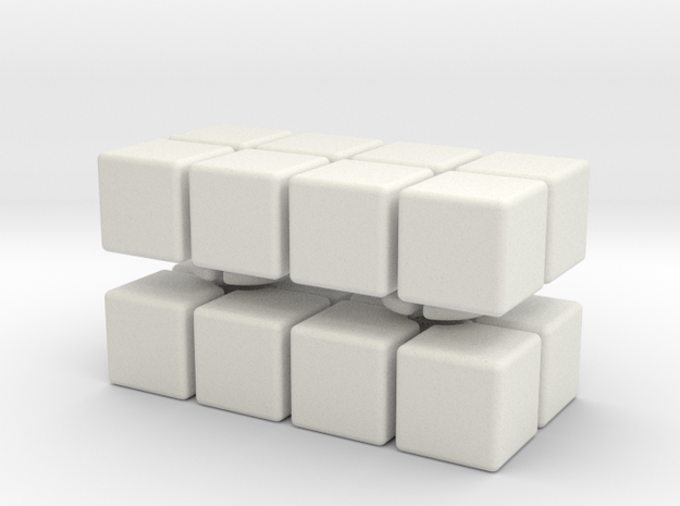 2x2x4 in White Natural Versatile Plastic