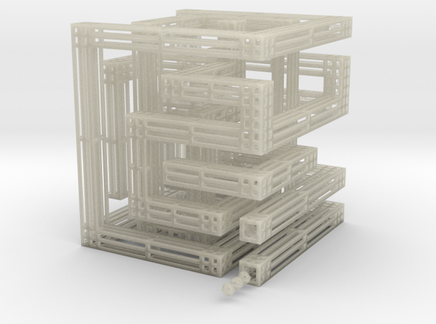 3d Maze 3d printed