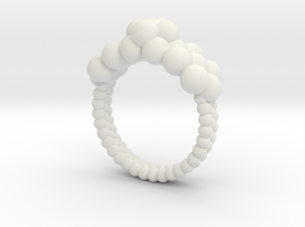 Neocube flower ring 16 in White Natural Versatile Plastic
