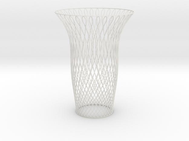 Vase double swirl in White Natural Versatile Plastic